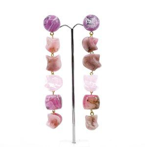 IN SEARCH OF CULT GAIA LEO EARRINGS - PINK MULTI